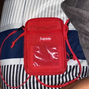 Supreme Red Utility Pouch Bag